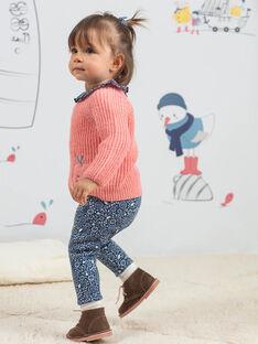 Baby Mädchen rosa Strickpullover mit Apfel-Stickerei BAKELLIE / 21H1BFL1PUL415