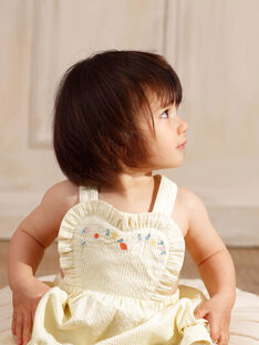 Zitronengelbes Kaselkleid Baby Mädchen ZANAELLE / 21E1BFO1CHSB104