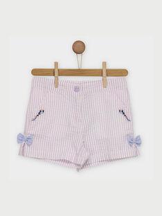 Weiß-lila Shorts ROLINAETTE / 19E2PFD1SHO328