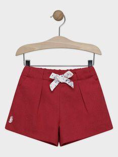 Himbeerrosa Shorts mit eingwebtem Glanzfaden für Mädchen SYNIETTE / 19H2PFE1SHO308