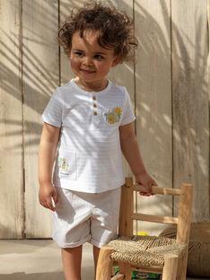 Baby-Bermudashorts für Jungen, beige TARADEK / 20E1BGQ1BER806