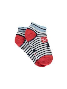 Kurze Socken weiß RIQUINAGE / 19E4PGE2SOB001
