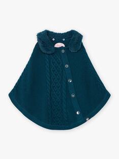 Poncho für Mädchen in Ente blau BOFIONETTE / 21H2PF91PON714