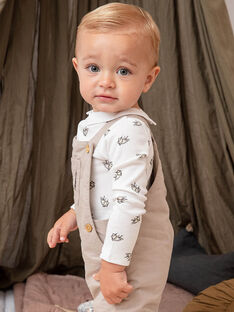 Weißer und grauer Kätzchen-Print-Body für Baby-Jungen BADUNCAN / 21H1BG21BOD632