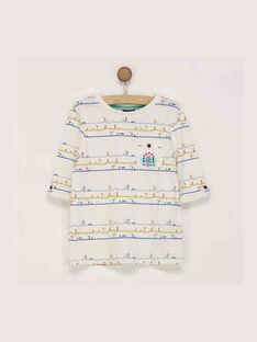 Langärmeliges T-Shirt ecru REDOUAGE / 19E3PGC1TML001