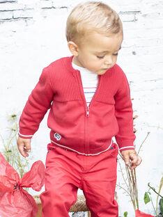 Baby Boy Rot Langarm Strickweste BABERNIE / 21H1BG11GIL050