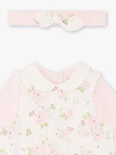 Baby-Mädchen-Body, Jumpsuit und Stirnband-Set BOYE / 21H0CF41ENS301