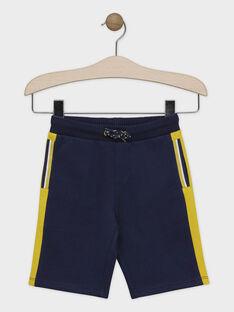 Blaue Bermuda-Shorts aus Molton Junge SACHOUAGE-1 / 19H3PGD1BER219