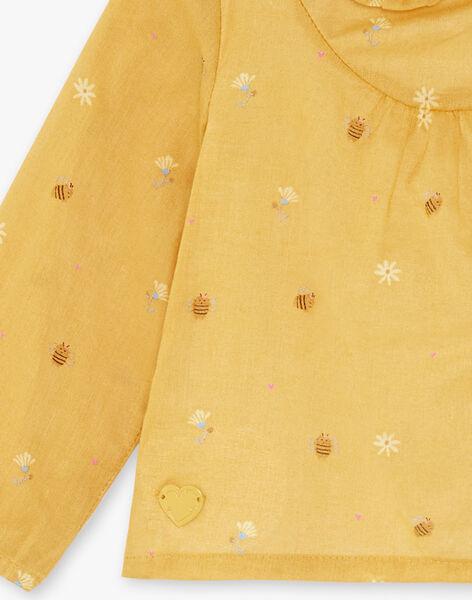 Imperiale gelbe Körperbluse Kind Mädchen ZADINA / 21E1BF91BODB114