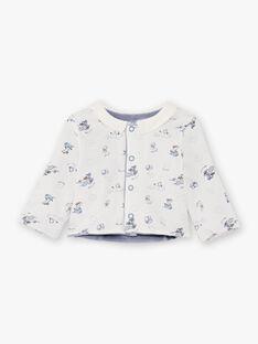 Baby Junge weiß und blau Strampler und Weste BOBBY / 21H0NG41ENS216