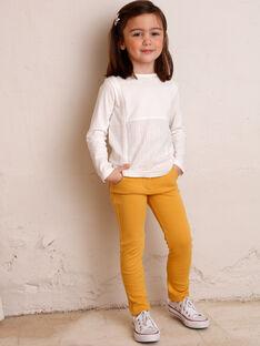 Kinderhose Mädchen gelb ZLUPETTE2 / 21E2PFK2PANB106