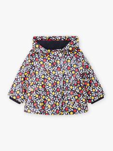 Marineblauer Kapuzenmantel für Baby-Mädchen BININA / 21H1BFC1IMP070