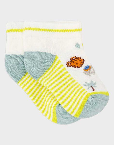 Kurze Socken gelb RASTEPH / 19E4BGM2SOB632