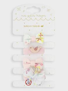 Set mit 4 kleinen Gummibändern für besondere Anlässe für kleine Mädchen TYCHOUETTE / 20E4PFKAELA000