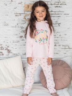 Pyjama-T-Shirt und rosa Hose für Mädchen BEBICHETTE / 21H5PF63PYJD300