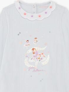 Baby Mädchen Pyjama Nachthemd und Leggings Himmel und Orange BEBALETTE / 21H5PF61CHNC227