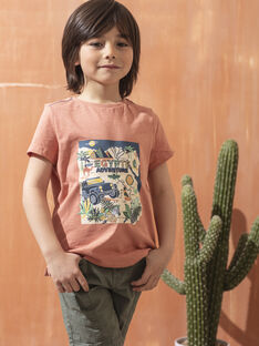 Braunes kurzärmeliges T-Shirt Jungen TOCOTAGE / 20E3PGQ2TMCF506
