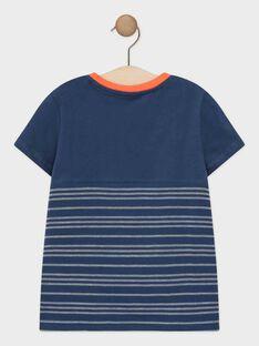 Marineblaues kurzärmeliges T-Shirt für Jungen TIAZAGE / 20E3PGP1TMCC205