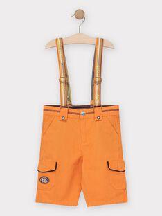 Orangefarbene Bermuda-Shorts mit abnehmbaren Trägern für Jungen TECOLAGE / 20E3PGG3BER400