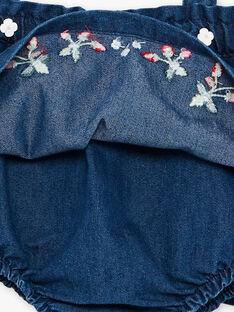 Denim kurzarmigen ecru Bodysuit und chasuble Set ZAAUDREY / 21E1BFJ1ENS001
