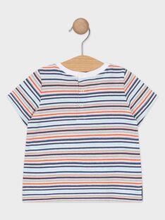 Gestreiftes Baby-T-Shirt für Jungen TAPABLITO / 20E1BGP1TMC001