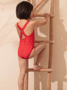 Badeanzug 1 Stück rot Kind Mädchen ZAIZOETTE / 21E4PFR3D4K050