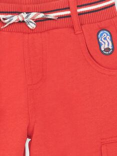 Rote Bermudashorts mit Taschen für Jungen ZINOAGE / 21E3PGT2BERF524