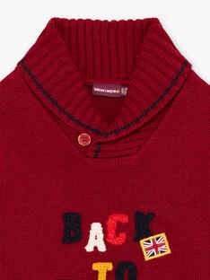 Roter Langarmpullover für Baby-Jungen BEBAGE / 21H3PG51PUL503