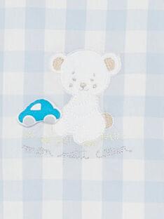 Kurze karierte Baby-Latzhose für Jungen TUVOUKI / 20E0CGR2SAC213