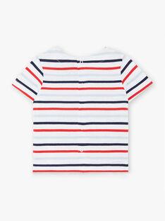Kurzarm-T-Shirt mit Baby-Jungen-Streifen ZAOLIVIER / 21E1BGT1TMC000