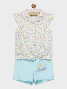Blau-weißer Schlafanzug REJADETTE / 19E5PFJ2PYJ000