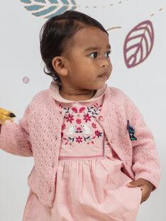 Baby Mädchen rosa Weste BAGIANE / 21H1BF91CARD329