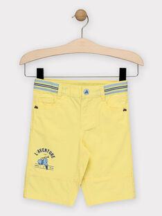 Bermudashorts für Jungen, gelb TIERAGE / 20E3PGO1BER106