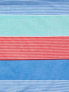 Blauer und roter Snood mit Phantasie-Streifen ZASNODAGE / 21E4PGJ1SNOG621