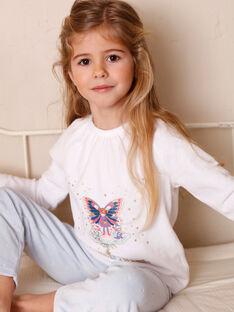 Ecru-Pyjamas mit phosphoreszierenden Details für Kinder und Mädchen ZEPRINETTE / 21E5PF13PYJ001