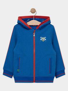 Blaue Fleece-Kapuzenweste für Jungen TESIAGE / 20E3PGH1GIL216