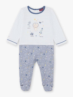 Baby Junge blau und weiß Strampler BEAXEL / 21H5BG66GRE205