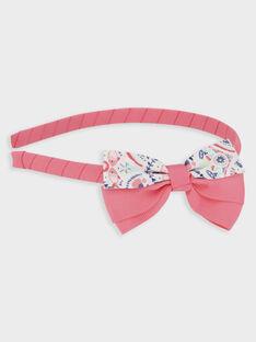 Haarreif mit Schleife und Printmuster für kleine Mädchen, rosa TISUZETTE / 20E4PFK1TET419
