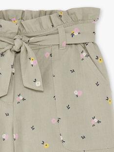 Khaki-Shorts für Kinder mit Blumendruck BESHORETTE / 21H2PF21SHO604